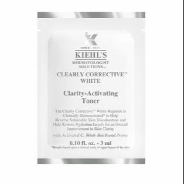 Combo 10 gói toner/ cleanser DƯỠNG TRẮNG KIEHL'S CLEARLY CORRECTIVE WHITE CLARITY ACTIVATING - 2472026 , 729793304 , 322_729793304 , 110000 , Combo-10-goi-toner-cleanser-DUONG-TRANG-KIEHLS-CLEARLY-CORRECTIVE-WHITE-CLARITY-ACTIVATING-322_729793304 , shopee.vn , Combo 10 gói toner/ cleanser DƯỠNG TRẮNG KIEHL'S CLEARLY CORRECTIVE WHITE CLARITY AC