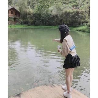 [Rẻ Vô Địch] Chân váy Umi xếp li 2 tầng,có quần trong thumbnail