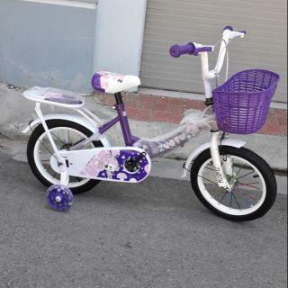 Xe đạp trẻ em cỡ 14 ich hồng tím cho bé gái 3-7t
