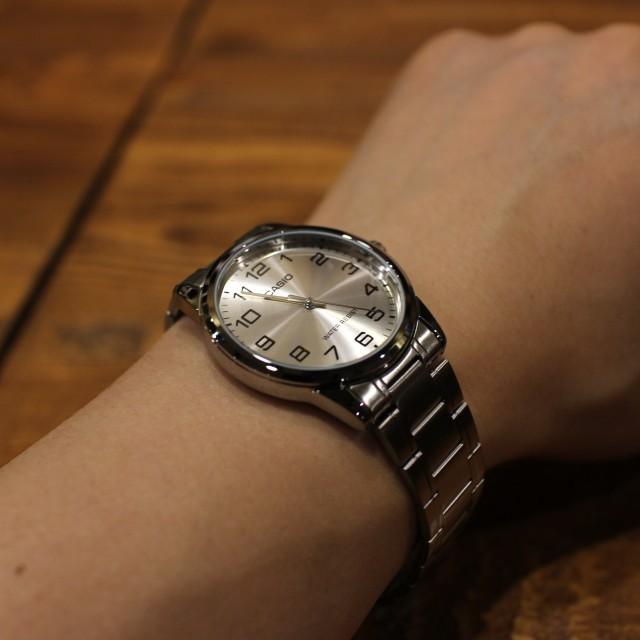 Đồng hồ nam Casio chính hãng MTP-V001, dây kim loại
