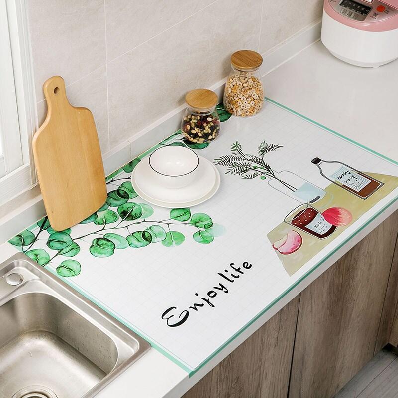 Miếng Giấy Dán Tường Nhà Bếp Cách Nhiệt Chống Dầu Mỡ, Chịu Nhiệt - Decal Dán Bếp Họa Tiết 3D Hiện Đại (90x60cm)