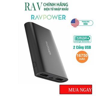 Pin Sạc Dự Phòng RAVPower 16750mAh 22.5W iSmart 2.0 Sạc Đồng Thời 2 Thiết Bị RP-PB010- Thương hiệu USB- HÀNG CHÍNH HÃNG