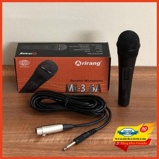[ Siêu rẻ ] Micro karaoke có dây Arirang Mi-3.6A