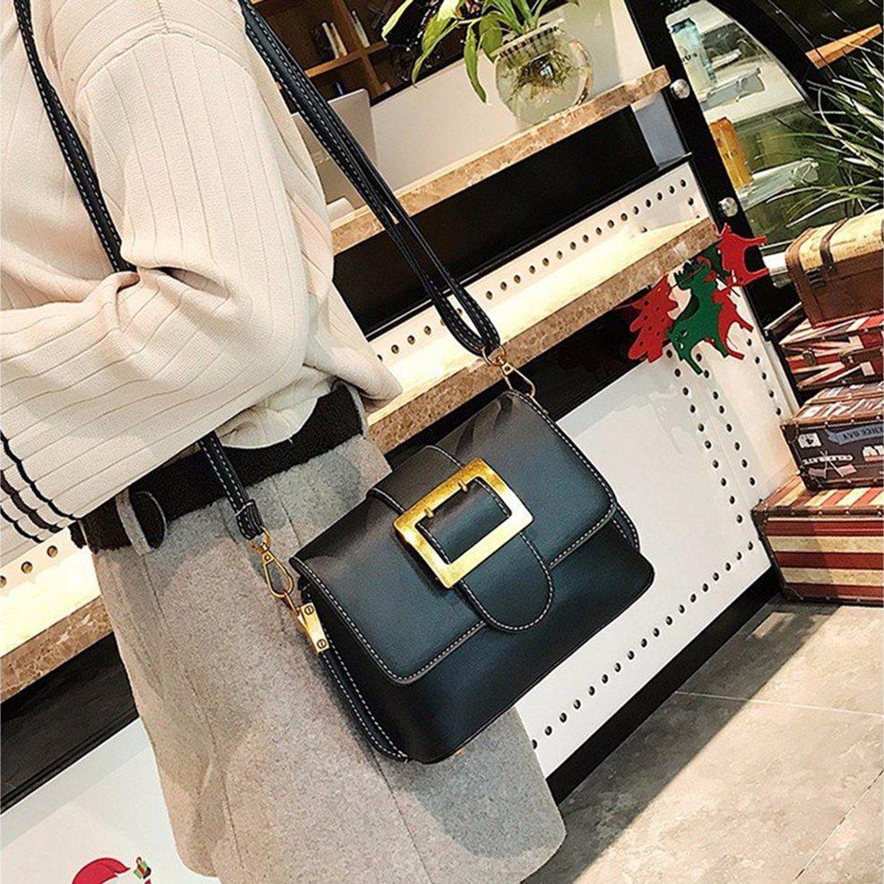▲FY▲Simple Belt Buckle Small Square Shoulder Bag Messenger Bag Crossbody Bag