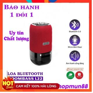 Loa Bluetooth Mini Không Dây, Loa Boombass L22 Có Đèn Led – Bass Siêu Ấm