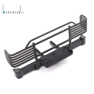 CNC Metal Realistic Front Bumper for 1/10 RC Crawler Traxxas,Black