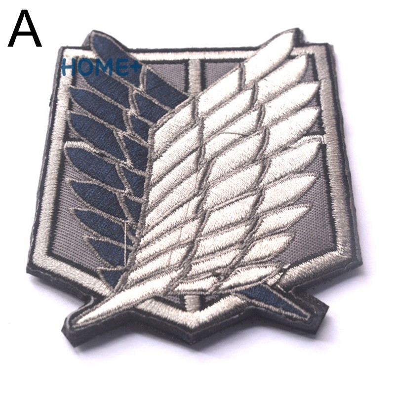 Tsuc Attack on Titan The Survey Corps Symbol Patch Anime Cosplay Patch Embroidery Arm Badge @vn