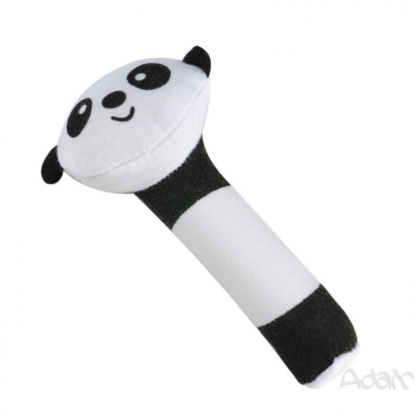adair Rattle Model Bell Squeeze Hand Material Plush Soft Cartoon Animal Motif