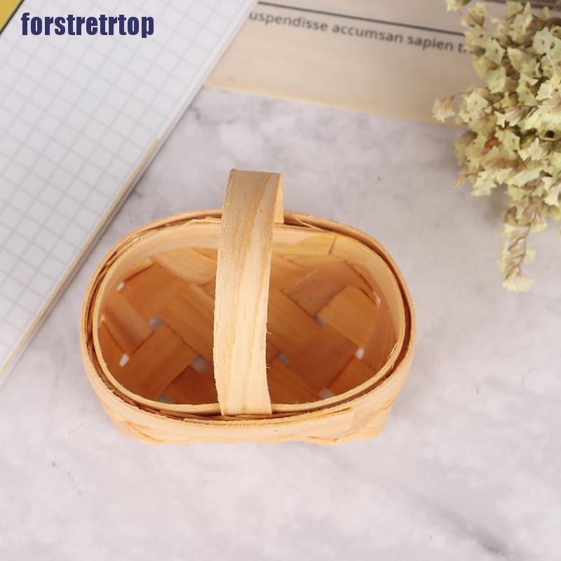 【FSTTTOP】1/12 Cute Dollhouse Hand-woven Vegetable Food Basket Dolls Miniature