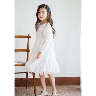 Váy công chúa trẻ em ren hoa trắng cho bé gái Sophia V36