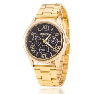 Đồng hồ thời trang nam nữ dây kim loại cao cấp Geneva DH98