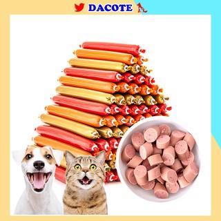 Xúc xích cho chó mèo hamster giàu dinh dưỡng vitamin nhiều vị lựa chọn DACOTE thumbnail