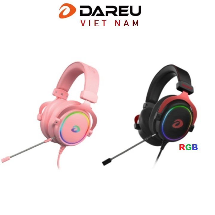 Tai nghe Dareu EH925S PINK , EH925 Black , LED RGB - Gaming 7.1