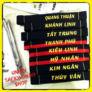 Đai Taekwondo Karate Miễn Phí Thêu Tên Giá Rẻ UnionTaekwondoSHOP thumbnail