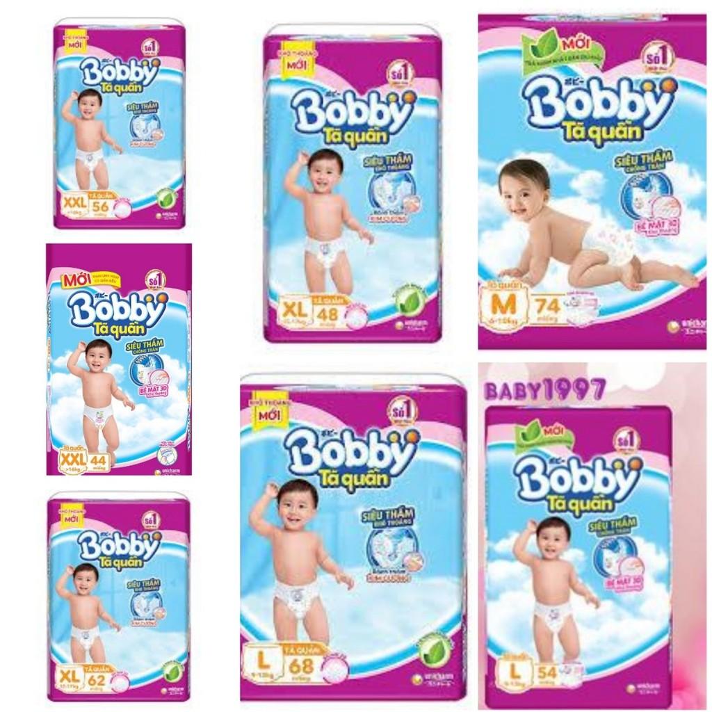 Tã quần Bobby L68,XL62,L54,XXL56,M74,XXL44,XL48