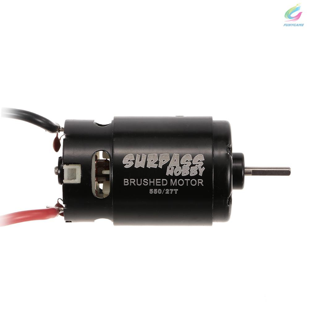 SURPASS HOBBY 550 27T Brushed Motor for HSP HPI Wltoys Kyosho TRAXXAS 1/10 RC Car Off-road Vehicle