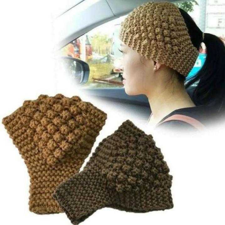 Mũ len nửa đầu nữ