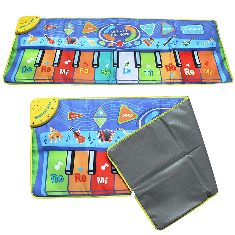 130x48cm Baby Musical Piano Play Mat Musical Toys with Different Instrument Tones Learning Toys