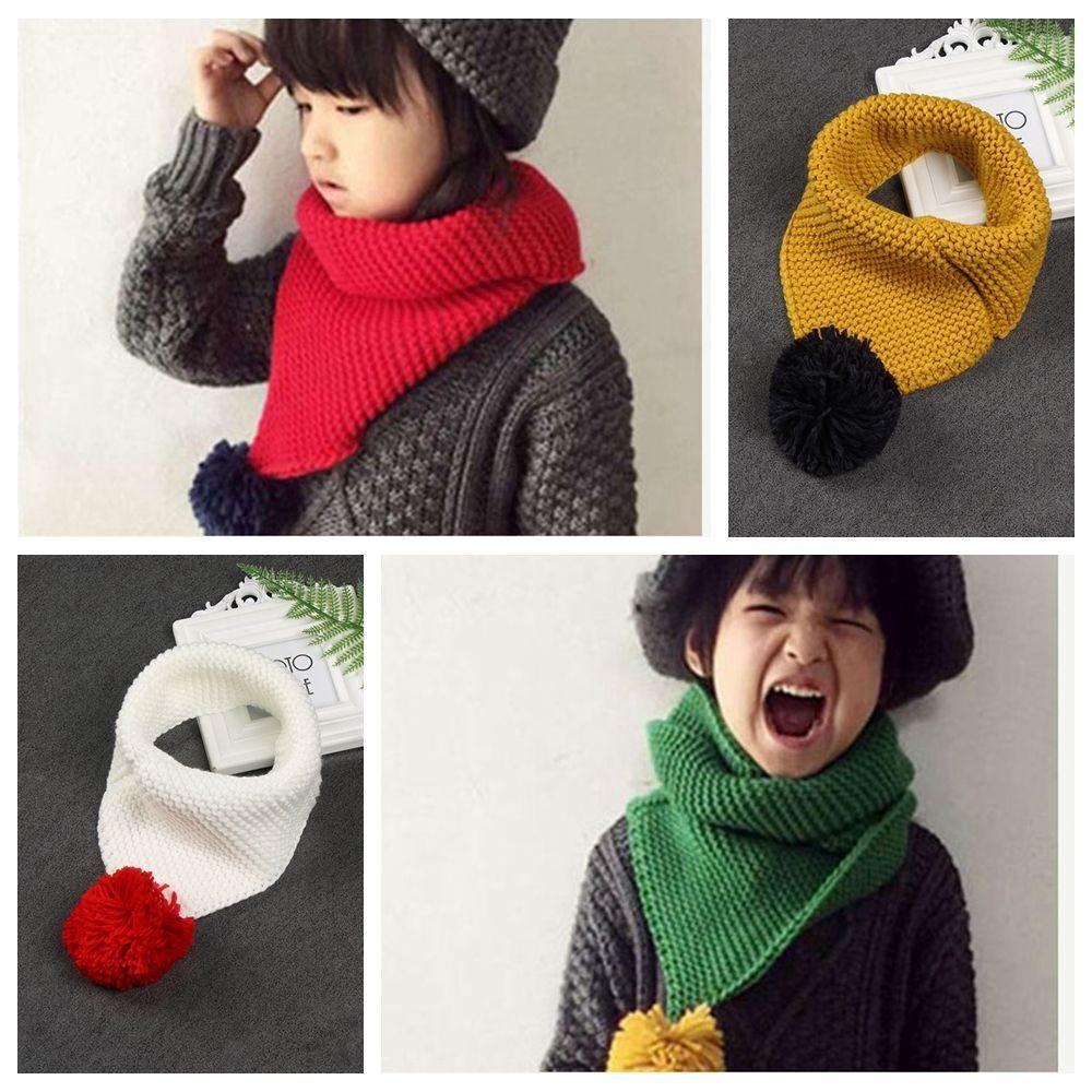 Wool shawls keep warm for boys and girls
