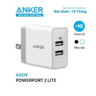 Sạc ANKER PowerPort 2 Lite - 12w - A2129