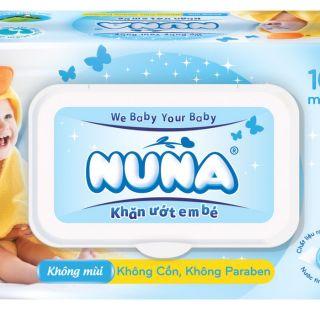 Yêu ThíchKhăn ướt em bé Nuna 100 miếng (ko mùi+có mùi)