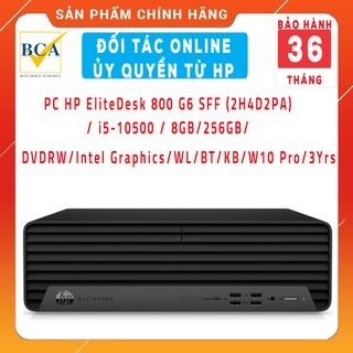 Máy tính mini PC HP EliteDesk 800 G6 SFF (2H4D2PA) i5-10500 8GB 256GB DVDRW Intel Graphics WL BT KB W10 Pro 3Yrs thumbnail
