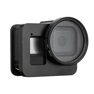 Tengye Aluminum Alloy Protective Case Frame Cage with 52mm UV Lens Filter for Hero 8 Fad