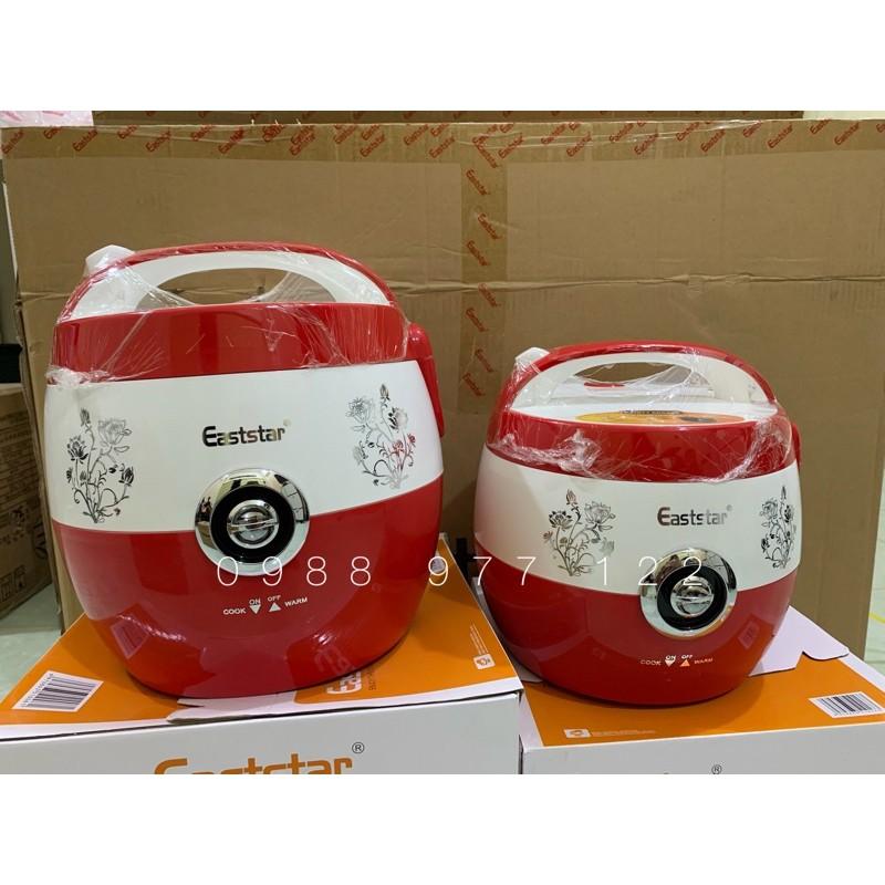 Nồi cơm điện Eaststar màu đỏ lõi nồi dày dặn chống dính tốt