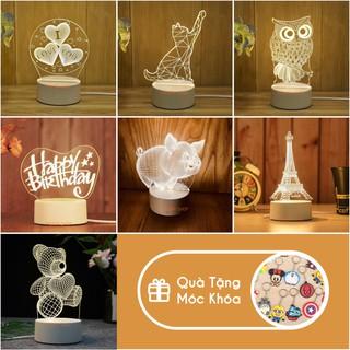 Đèn ngủ LED 3D trang trí PAVITA - Quà tặng độc đáo, ý nghĩa cho bạn gái, bạn trai, cho bé iu