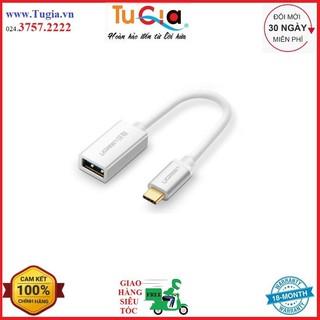 [Mã ELFLASH5 giảm 20K đơn 50K] Cáp OTG Ugreen Type-C Sang USB 2.0 30645 (20cm) - Hàng Chính Hãng