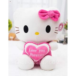 [AN TOÀN]Gấu bông Oenpe hello kitty đeo nơ hồng đáng yêu ngộ nghĩnh chất liệu cao cấp