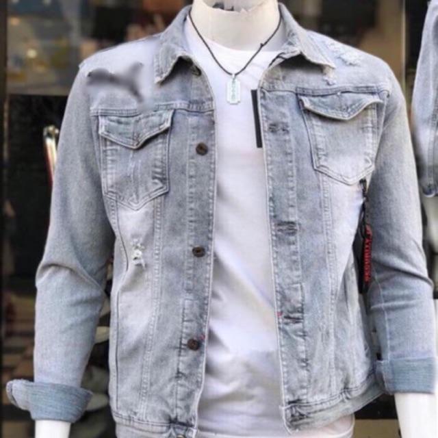 ÁO KHOÁC JEAN CAO CẤP  - Áo khoác jeans - Khoác Jean đẹp, cool ngầu Áo khoác jeans