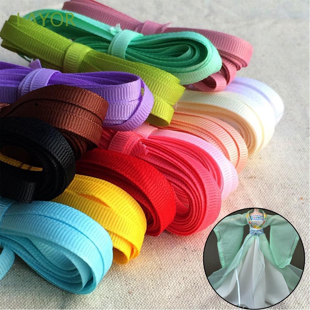 LAYOR 3mm Width Beautiful 5 Meters Wedding Invitation Decoration Party Supplies Silk Ribbon