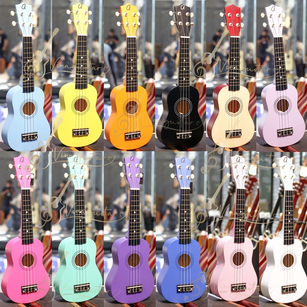 Đàn ukulele full gỗ VU-M2C-T05 soprano concert cần gỗ- tặng full 7 phụ kiện - Vinaguitar phân phối chính hãng