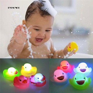 ♕1Pc Newborn Baby Bath Time Toy Changing Color Duck Flashing LED Lamp Light
