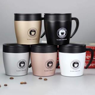 [TẶNG KÈM MUỖNG INOX - ĐƯỢC CHỌN MÀU] Cốc pha Cà phê inox 304  cao cấp Creative 330ml