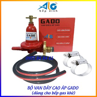 [Mã ELFLASH5 giảm 20K đơn 50K] Bộ van dây gas bếp khè công nghiệp Gado - Alo Bếp Xinh