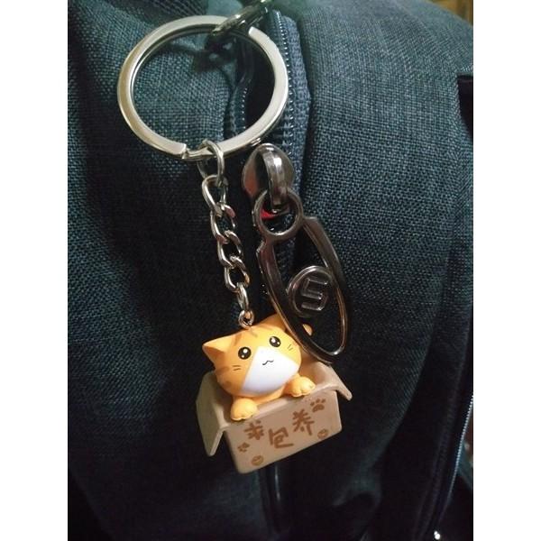 Móc Khóa Mèo Con Ngồi Hộp - Vàng