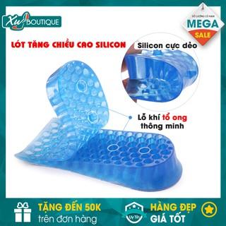 Lót Gót Độn Đế Giày Tăng Chiều Cao Silicon Mềm 2 Lớp 4Cm thumbnail