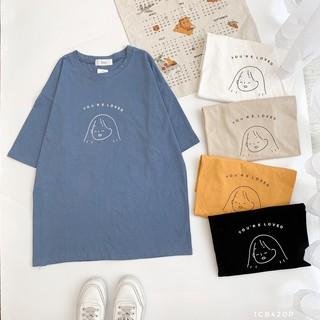 Áo phông cho chữ hoạ tiết cô gái You re Loved 1CB420P Friday thumbnail
