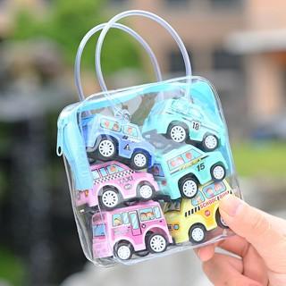 6pcs/set Pull Back Car Child Mini Engineering Vehicle Cars Model Toys