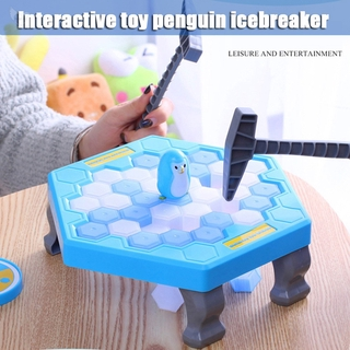 [dueplay] Save Penguin Trap Ice Breaker Game Blocks Toy Table Game Cute Interesting for Children Kids Gift