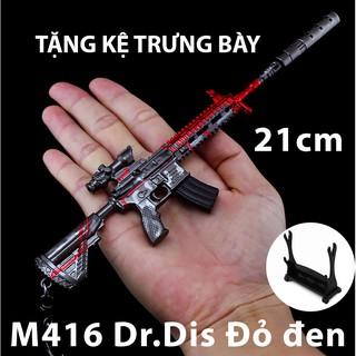 Mô hình Trưng bày Trang Trí – PUBG M416 Đỏ đen Dr. Disrespect – 21cm