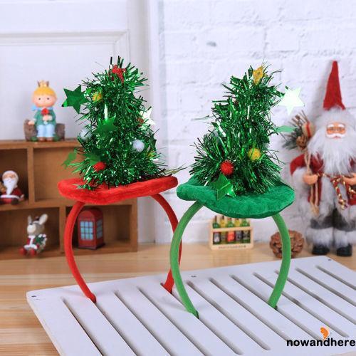 VAD-Christmas Hair Band Headband Accessories Green Red Tree Xmas Gift