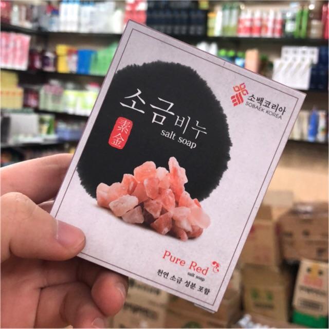 Xà phòng Muối tẩy da chết mặt và body 100g từ Hàn Quốc