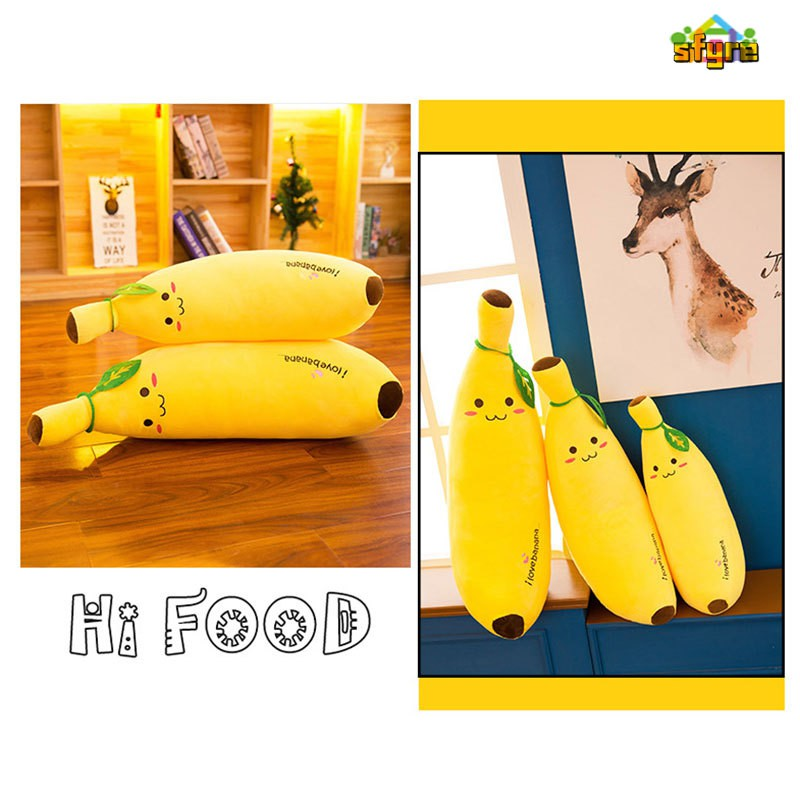 Sfyre Soft Banana Soft Plush Toy Pillow Simulation Fruit Pillow Children's Toys