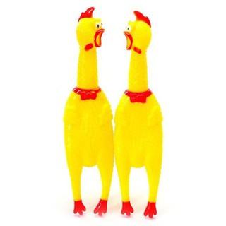 Đồ chơi cao su hình gà phát ra tiếng cho thú cưng
