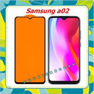 Cường lực Full màn , Kính trong suốt Samsung A02 / Samsung A12 / M02 full keo thế hệ mới ( tặng keo mép )