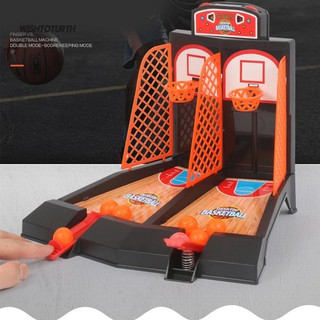 ☼WT Mini Basketball Table Play Toys Kit Family Sport Game Home Basket Balls Gift