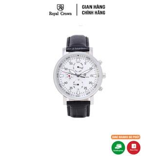 [Mã FARSBR153 giảm 15% đơn 150K] Đồng hồ nam chính hãng Royal Crown Italy 5603 Leather Watch